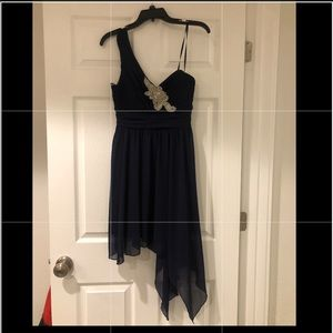 One strap asymmetrical dress
